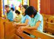 祈福0051,祈福,中华文化,教堂 信徒 祈福