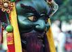 祈福0056,祈福,中华文化,大面具 青脸 红须