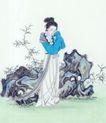 仕女图0067,仕女图,中华文化,闺秀 花园 风景