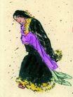 仕女图0072,仕女图,中华文化,藏族 女人 抛袖