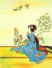 仕女图0074,仕女图,中华文化,孤独 嫔妃 雁子