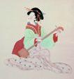 仕女图0094,仕女图,中华文化,歌女 乐器 二胡