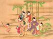 仕女图0103,仕女图,中华文化,图片 女性 在野外玩耍