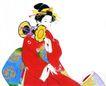 仕女图0105,仕女图,中华文化,古装 衣饰 坐着