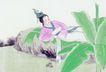 仕女图0119,仕女图,中华文化,石头山 自然界 古装