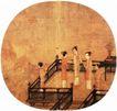 人物名画0061,人物名画,中华文化,阁楼 游玩 女子