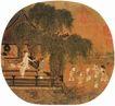 人物名画0062,人物名画,中华文化,孩童 花园 官府