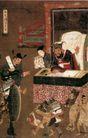 人物名画0070,人物名画,中华文化,阎王 判官 审讯