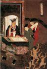 人物名画0072,人物名画,中华文化,阎王 批阅 生死