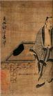人物名画0074,人物名画,中华文化,古画 长须 男人