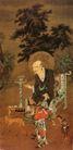 人物名画0076,人物名画,中华文化,光头 衰老 残灯