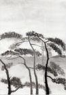 古代风景0042,古代风景,中华文化,高高树干