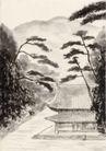 古代风景0046,古代风景,中华文化,淡墨水彩