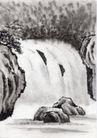 古代风景0063,古代风景,中华文化,泉水 石头 小溪