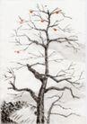 古代风景0071,古代风景,中华文化,秋天 枯枝 枝丫