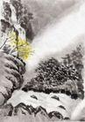 古代风景0075,古代风景,中华文化,石涧 小溪 流淌