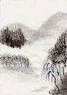 古代风景0077,古代风景,中华文化,山水 风景 垂柳