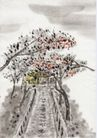 古代风景0082,古代风景,中华文化,桥路 山间 风景