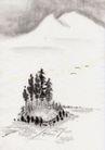 古代风景0086,古代风景,中华文化,素色 素描 风景