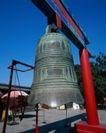 钟鼎器皿0069,钟鼎器皿,中华文化,木架 敲钟 寺院