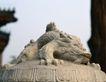 钟鼎器皿0075,钟鼎器皿,中华文化,钟顶 趴伏 神兽