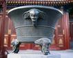 钟鼎器皿0079,钟鼎器皿,中华文化,弧行 钟鼎 羊头
