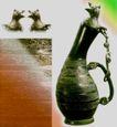 青铜艺术0075,青铜艺术,中华文化,弯曲 铜壶 酒器