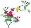 花鸟国画0072,花鸟国画,中华文化,枝头 黄色 小鸟