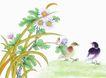 花鸟国画0089,花鸟国画,中华文化,菊花 可爱 伴随
