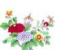 花鸟国画0101,花鸟国画,中华文化,花朵 植物 鲜花