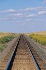 平坦大道0298,平坦大道,交通,铁路线 蓝天白云 远方