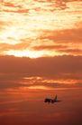 现代运输0011,现代运输,交通,民航 起飞 夕阳