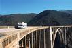 现代运输0059,现代运输,交通,起伏山脉 高桥 车子开过