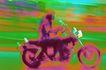 现代运输0062,现代运输,交通,摩托车 驾驶员 驾驶