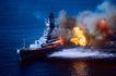 深海船舶0052,深海船舶,交通,事故 船只失火 浓烟