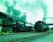 火车百科0071,火车百科,交通,老式 火车 进站