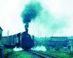 火车百科0072,火车百科,交通,火车头 冒烟 吐气