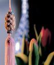 情结贺岁结0029,情结贺岁结,喜庆婚姻,花朵 绿叶 手织品