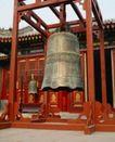 庙宇钟鼎0062,庙宇钟鼎,乐器钟鼎,木架 大钟 敲钟