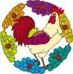 吉祥物品0064,吉祥物品,古玩吉祥,公鸡 鸡冠 花朵
