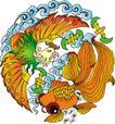 吉祥物品0087,吉祥物品,古玩吉祥,混合 羽毛 鲜艳