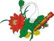 吉祥物品0089,吉祥物品,古玩吉祥,鲜花 天鹅 洁白