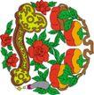 吉祥物品0095,吉祥物品,古玩吉祥,红花 喜庆 花纹