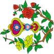 吉祥物品0096,吉祥物品,古玩吉祥,花朵 绿叶 吉祥