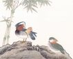 吉祥鸟0027,吉祥鸟,古玩吉祥,竹叶 动物 飞鸟