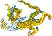 龙纹百龙夺珠0067,龙纹百龙夺珠,古玩吉祥,龙头 龙角 龙尾