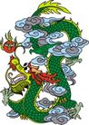 龙纹百龙夺珠0093,龙纹百龙夺珠,古玩吉祥,图纹 年画 祈求