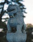 狮艺0062,狮艺,纹饰雕塑,狮子 石头 树枝