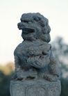 狮艺0064,狮艺,纹饰雕塑,雕像 狮头 景色