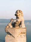 狮艺0066,狮艺,纹饰雕塑,小狮子 桥墩 湖面